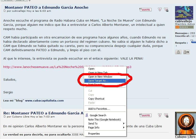 Montaner PATEO a Edmundo Garcia Anoche Saveas